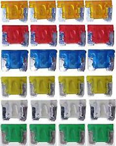 24-X-ASSORTED-MICRO-MINI-BLADE-FUSE-FUSES-CAR-AUTO-TRUCK-SUV-LOW-PROFILE-APS