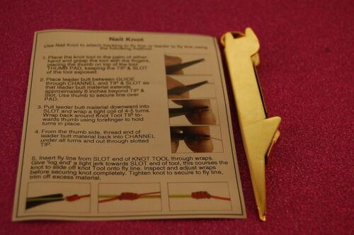 Knotenbindung Werkzeug,Gold Fliegenfischen Edelstahl Nagelknoten