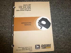 john deere 300 series 6414 oem diesel engine owner operator manual rh ebay com John Deere Repair Manuals Online John Deere Online Service Manual
