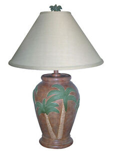 tropical table lamps. Image Is Loading Tropical-Table-Lamp-Palm-Tree-Shade-28-034- Tropical Table Lamps