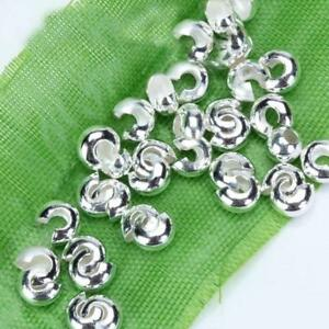 100pcs-Silver-Tone-Crimp-Covers-Beads-Findings-for-DIY-Craft-Jewelry-Making-New