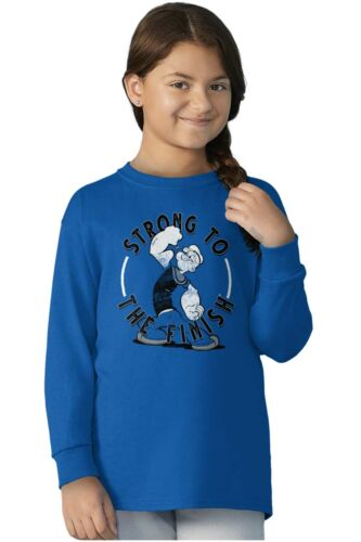 Strong To The Finish Popeye Sailor Man Youth Long Sleeve T Shirts Tshirts