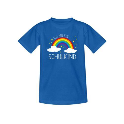 T-Shirt Schulkind 2019 Regenbogen Einschulung 1 Klasse 10 Farben Kinder 98-164