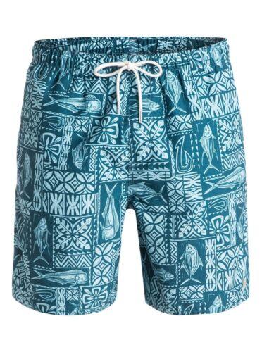 "Quiksilver Waterman Collection Kiko 18/"" Swimwear Volley Boardshorts Sz Large"