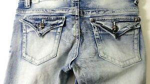 Rue-21-Premiere-Jeans-Distressed-Mid-Rise-Skinny-Juniors-Womens-Size-7