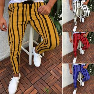 Men/'s Twill Jogger Pants Urban Hip Hop Harem Casual Trousers Slim Fit