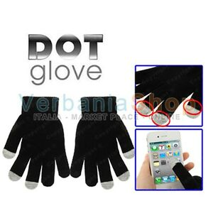 DOT-GLOVES-GUANTI-CAPACITIVI-PER-TOUCH-SCREEN-SONY-ERICSSON-BLACKBERRY-ACER