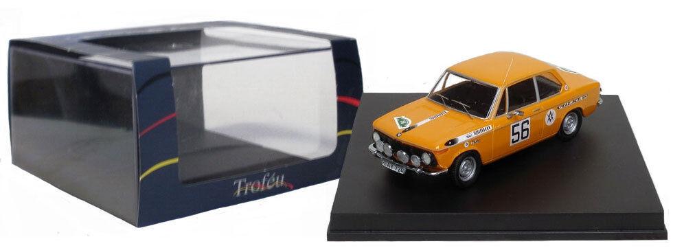 Trofeu 1722 BMW 2002 TI Bavière rally 1969-W ROHRL, échelle 1 43,
