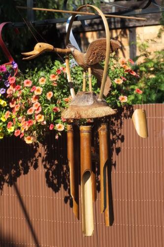 ente,windspiel,bambus,kokos,70x43cm,vogel,klangspiel,duck,canard,vögel,garten