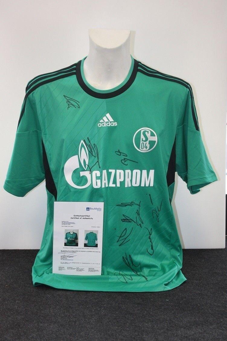 Schalke 04 2013/2014, Trikot 2013/2014, 04 Teamsigniert, S04, XL e65045