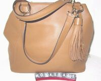 Michael Kors Frances Large Grab Bag Acorn Leather Long Tassel Trim $398
