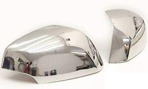 Cubierta De Espejo Cromado 2 piezas acero inoxidable de acero Renault Fluence 2010 en adelante