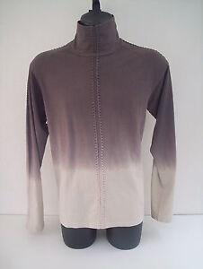 T-shirt-Roberto-Cavalli-collo-dolce-vita-colore-grigio-sfumato-tg-56