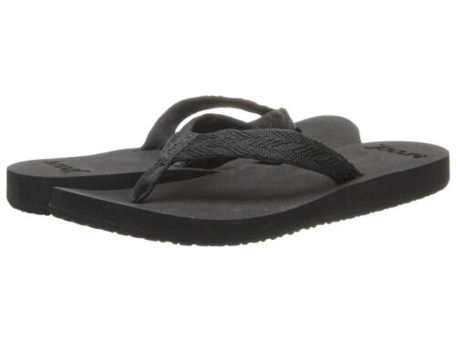 Women Reef Flip Flop Sandal Mid Seas RF001344 Black Black 100/% Authentic B New