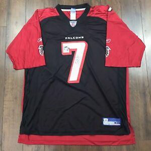 c046ff711 Mens Atlanta Falcons Michael Vick Black Reebok NFL Home Jersey Size ...