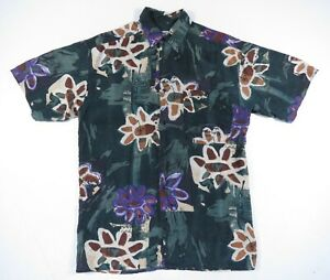 Vintage 1980/'s Multi Colored Short Sleeve Button Up
