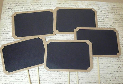 5pc Chalkboard Cardboard Rectangle Bubbles Photo Booth Props Wedding Parties