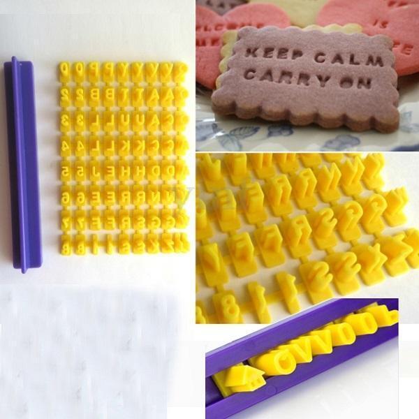 Cake Alphabet Numbler Cookies Biscuit Letter Stamp Embosser Fondant Mold Cutter