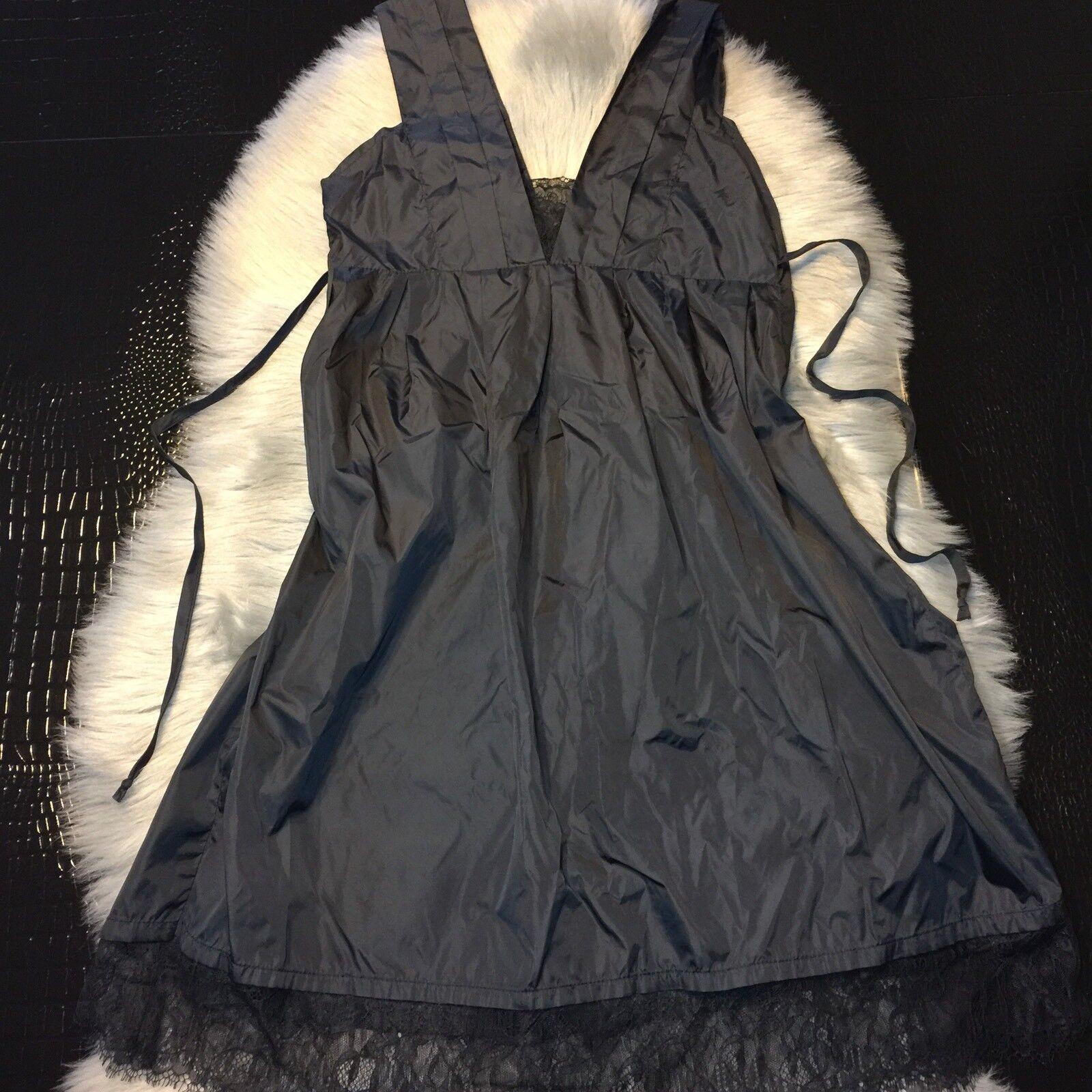 Debra Rodman Sexy schwarz Dress Größe 8 Lace Detail Nylon Texture NICE