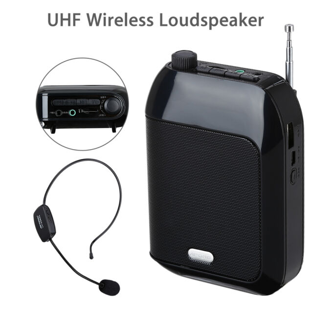 T9 15W UHF Wireless Cordless Voice Amplifier Loudspeaker Mic Speaker For Tourism