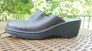 Born-LEATHER-BROWN-Slip-On-Nurse-Comfy-Clogs-Mules-Womens-shoes-Size-9-40-5