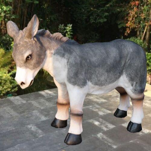 Esel Muli Garten Deko Figur Skulptur Tier Polyresin wetterfest 50 cm  #856