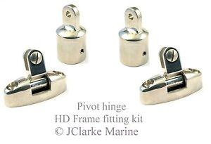 Image is loading 1-034-HD-range-boat-canopy-pivot-hinge-  sc 1 st  eBay & 1