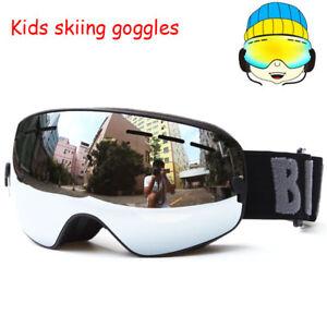 2698410e80f Benice UV400 Anti-fog Snowboard Ski goggles for Kids Double Lens Ski ...