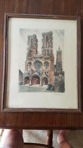 LEOPOLD ROBIN (1877-1939)~Pencil Signed~Titled~Hand Colored~Framed W/Glass~RARE