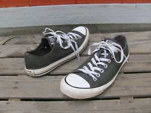 8d632af51356d1 Converse All Star Chuck Taylor Ox Leather Lo Top Shoes Mens SZ 11 ...