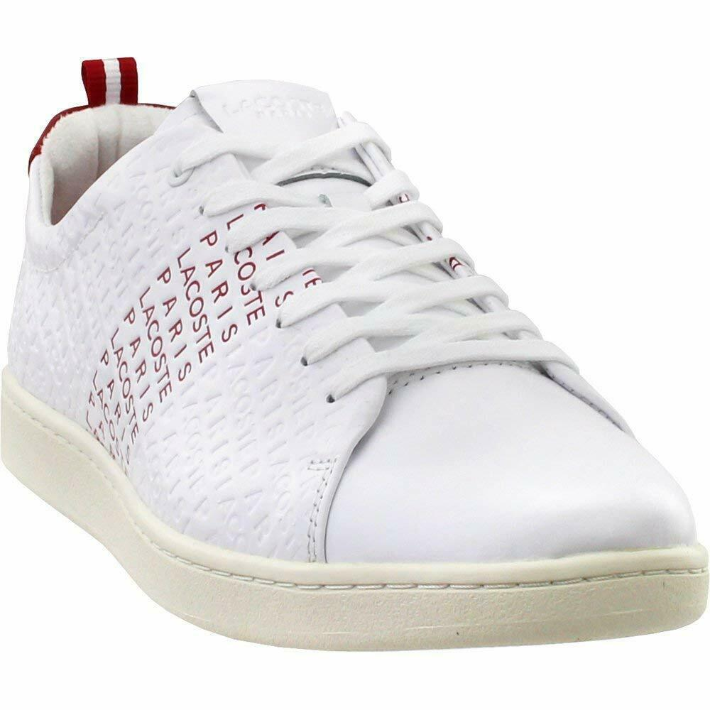 Lacoste voiturenaby Evo 119 paniers 286 Rouge Blanc Neuf