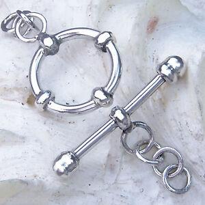 Kette U Hk53 Haken 30mm Silber 925 Verschluss F Armband Silver Clasp 30mm