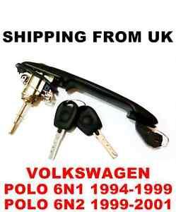 Clé avant Gauche ou Droite VW Polo 6n1 6N2 Poignée de Porte Serrure