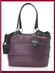 Babymel-Storksak-Baby-Changing-Diaper-Bag-Camden-Carry-All-Aubergine-Purple-New