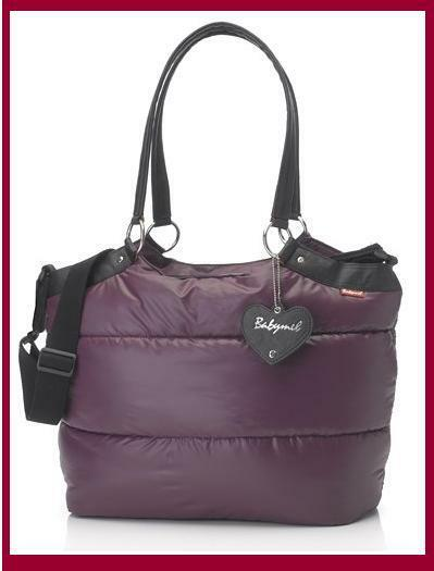 Babymel Storksak Baby Changing Diaper Bag, Camden Carry-All Aubergine Purple New