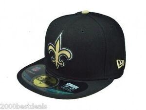 best authentic fbcf1 ce005 Image is loading New-Era-59Fifty-Cap-NFL-New-Orleans-Saints-