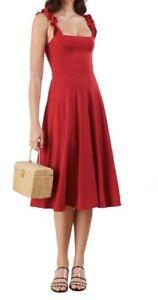 0d5b48f4b6b7 NWT Reformation Eda Dress A LINE Vacation DRESS Cherry Red Size S ...