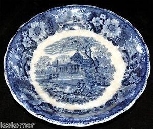 Flow-Blue-Antique-W-Adams-Venetian-Scenery-8-3-4-034-Bowl