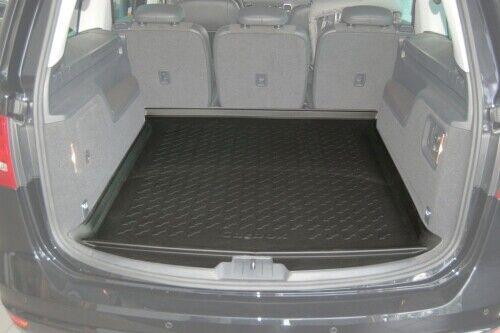 Sitzreihe umgeklappt Carbox FORM Kofferraumwanne Laderaumwanne VW Sharan 3