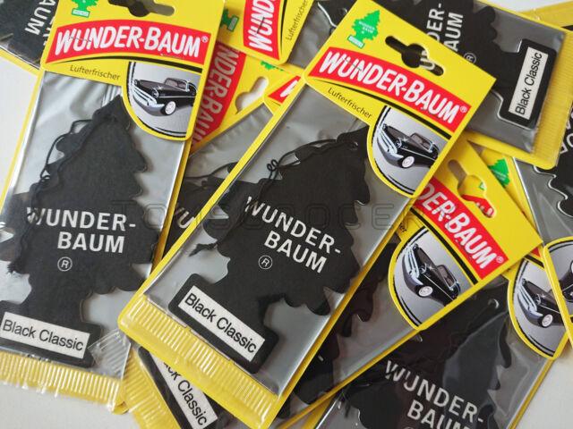 WUNDER-BAUM-Noir Classique parfum désodorisant voiture Hanging Little Trees