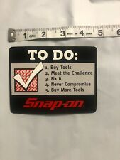 Genuine Official Snap On Tools Logo Decal BUILD YOUR DREAMS Vinyl Sticker NEW