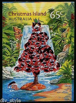 Briefmarken Postfrisch Selbstklebend Briefmarke 2015 It's Rote Krabbe Weihnachtsbaum