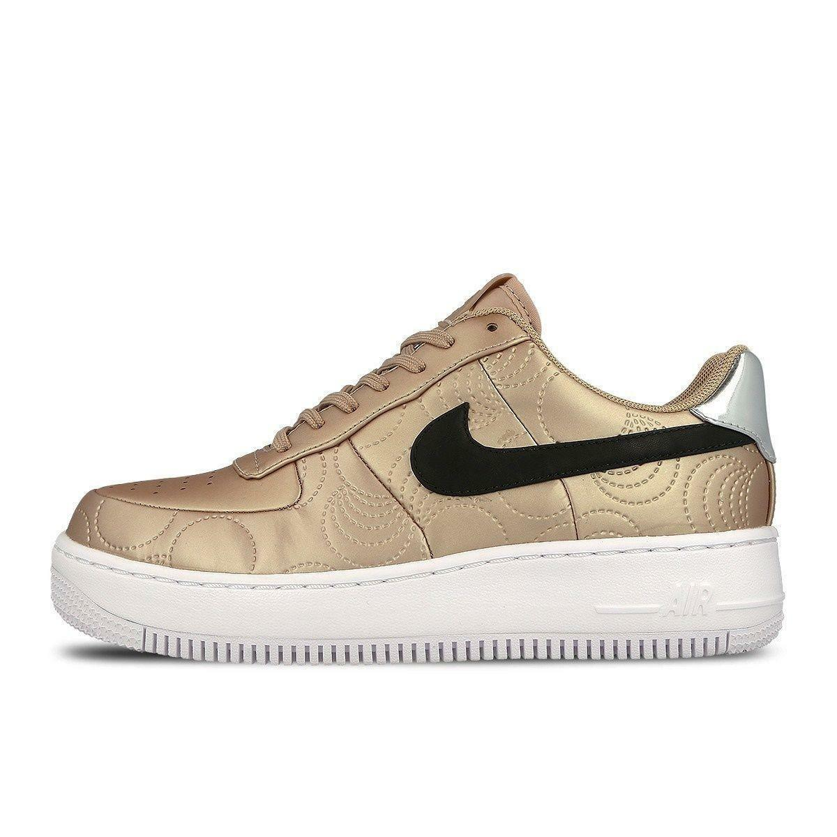 Femme NIKE AF1 UPSTEP Gold LOTC QS Gold UPSTEP Synthetic Trainers 874141900 2967bc