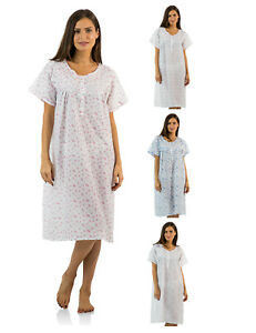 Casual-Nights-Women-039-s-Woven-Short-Sleeve-Nightgown