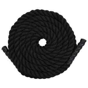 vidaXL-Battle-Rope-9m-Polyester-Black-Battling-Sport-Gym-Exercise-Fitness