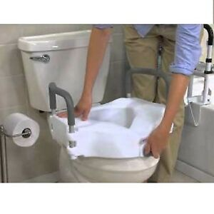 Raised Toilet Seat Lift 5in Height Riser Bath Safety