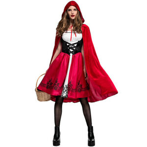 Women-Little-Red-Riding-Hood-Ladies-Fairytale-Dress-Costume-Halloween-Cosplay