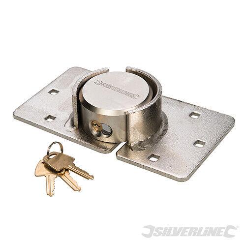 DISC PADLOCK STEEL HASP HEAVY DUTY VAN LOCKSET 2PCE 70mm