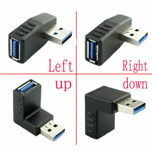 90 Degree USB 3.0 A male to female Adapter Connector Angle Extension Extender
