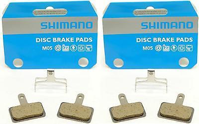 2x Shimano M05 MTB Disc Brake Pads Deore BR-M515 Resin Fits like B01S Y8B698010